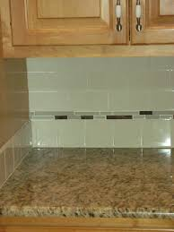 Subway Tile Floor Kitchen Green Glass Subway Tiles With Small Grey Glass Accent Tiles
