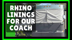 rhino linings review the best thing we did to our motorhome coach
