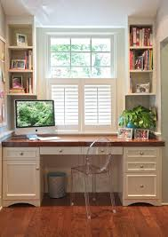 alcove office. New York Half Circle Desk Home Office Traditional With Wood Counter Distressed Writing Desks Study Alcove