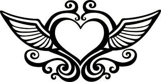 Small Picture Hearts With Wings Coloring Pages Coloring Home