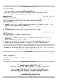 Resume Manufacturing Resume For Study