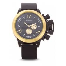valentino big lee style men rubber strap strap watch 20121896 gold