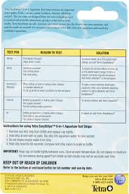 Tetra Easystrips 6 In 1 Freshwater Saltwater Aquarium Test Strips 25 Count