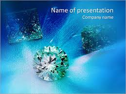 Three Brilliant Diamonds Powerpoint Template Backgrounds Google