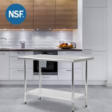Factory Direct 30x60 Inch Stainless Steel Kitchen Work Table