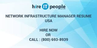 Network Infrastructure Manager Resume Hire It People We Get It Done