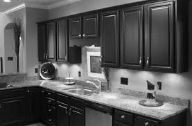 Small Kitchen Black Cabinets Kitchen Ideas With Black Appliances And White Vinyl Galley Idolza
