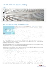 Executive Classic Format Resume Executive Resumeat Unique Templates