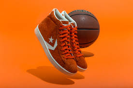 converse s second most famous basketball sneaker has never looked better a rusty orange suede brings the converse pro leather