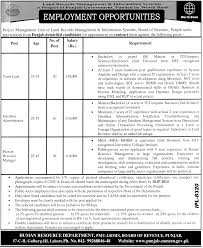 employment opportunities in revenue department government of lahore jobs