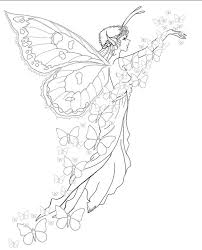 Hard Fairy Coloring Pages For Adults
