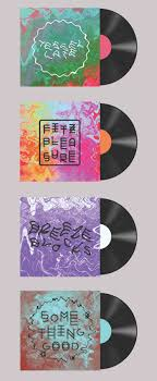 PROMO Eve Warren Record sleeve design concepts - Alt-J PD. Warped text and  colours match style of music - JB