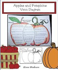 Pumpkin Venn Diagram Comparing Apples Pumpkins Classroom Freebies