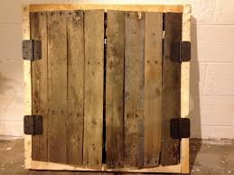 Dart Board Cabinet With Chalkboard Pallet Dart Cabinet Upcycling Creations Turning Trash Into