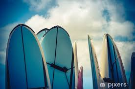 retro styled vintage surf boards in