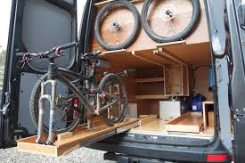 sprinter diy campervan by allen sutter rear bike drawers sprinter rv conversion