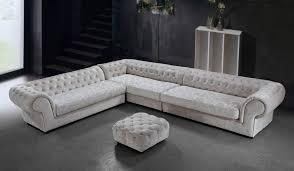 cream dream microfiber sectional sofa and ottoman
