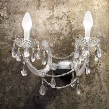 outdoor crystal chandelier wall light