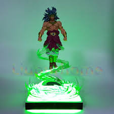 Dragon Ball Z Broly With Flying Effect Diy Led Light Lamp Base