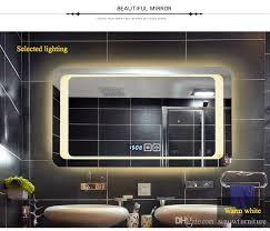 makeup mirror lighting. 2018 Luxury Decorative Defogging Bathroom Mirrors Lighting Wall Mounted Makeup Mirror With Touch Button For Fixture From Sinowfurniture,
