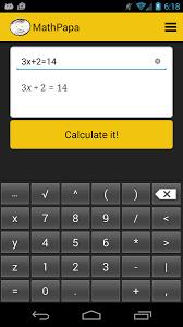 mathpapa algebra calculator 1 0 5 screenshot 1