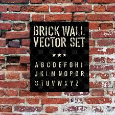 alphabet stencil on brick wall vector image vector artwork of backgrounds textures abstract to zoom