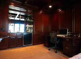 office wet bar. Delighful Bar Cherry Wood Paneled Ceilings U0026 Walls In Office With Wet Bar Fridge  Built And O
