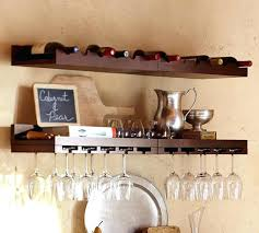 wine glass rack pottery barn. Plain Pottery Clever Wine Wall Shelf Racks Floating Rack Each This Shows 4 Entertaining  Shelves Pottery Barn Welland Espresso With Glass Holder Throughout