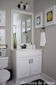 Accessories: Amusing Small White Bathroom Decoration Using 2 Light ...