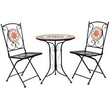 add a romantic touch to your garden patio or balcony with the ginger mosaic bistro set it will be a