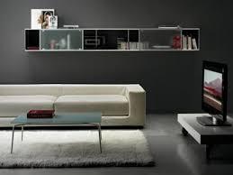 Wall Shelf For Living Room Living Room Contemporary Modern White Rectangular Floating Wall