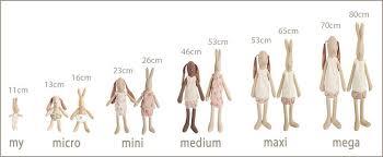 Maileg Bunny Rabbit Size Chart Maileg Bunny Bunny