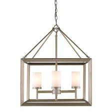 golden lighting 2073 4 wg smyth 4 light chandelier in white gold with opal glass