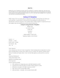 Acting Resume Beginner 14 Talent Sample Job Resume Format For Actors .