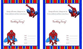 Spiderman Template Spiderman Party Invitation Template Atlasapp Co