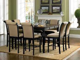 brilliant 8 seater square dark wood dining table and chairs funky glass legs on seat