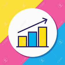 Beautiful Chart Vector Illustration Of Chart Icon Colored Line Beautiful Management