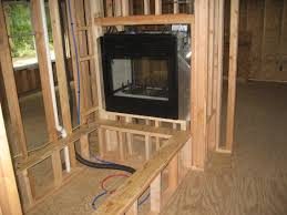 gas fireplace rough framing ideas