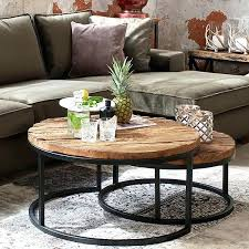 nest of coffee tables uk luxe kensington reclaimed wood industrial nest of round coffee tables nest