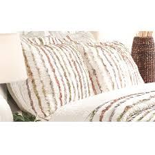 ruffled pillow shams.  Ruffled Greenland Home Fashions Bella Ruffle Pillow Shams Set Of Two 2 With Ruffled Shams P