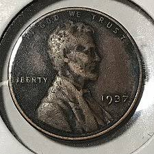 1937 Lincoln Wheat Penny Coin Value Prices Photos Info