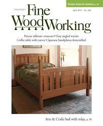 fine woodworking plans. #260\u2013mar/apr 2017 - fine woodworking arts \u0026 crafts bed by kevin plans