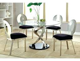 retro round glass top dining table set with 6 pu leather chairs and end patio 4 retro glass top dining table