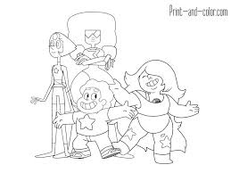Steven Universe Coloring Pages Pearl Items Similar To Universe Ruby
