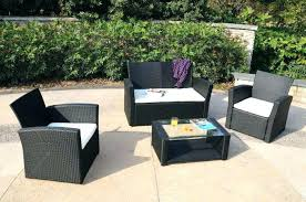 wicker patio furniture sets. Rattan Furniture Outdoor Patio Decor Of Black  Wicker . Sets