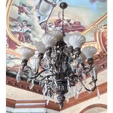 old world bronze leaf chandelier