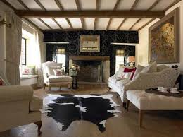 cowhide rug living room ideas