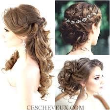 Coiffure Mariage Cheveux Mi Long Chignon Coiffure Pour