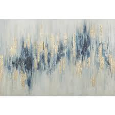 Blue/<b>Gold Abstract</b> Textured Canvas Wall Art | At Home