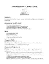 Download Account Representative Sample Resume